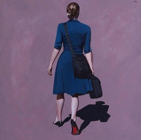 femme de dos,peinture figurative